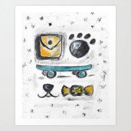 Bear The Skater's Stuff Art Print