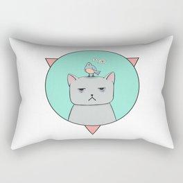 Depressive cat Rectangular Pillow