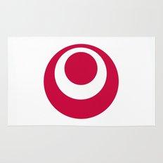 okinawa region flag japan prefecture Rug