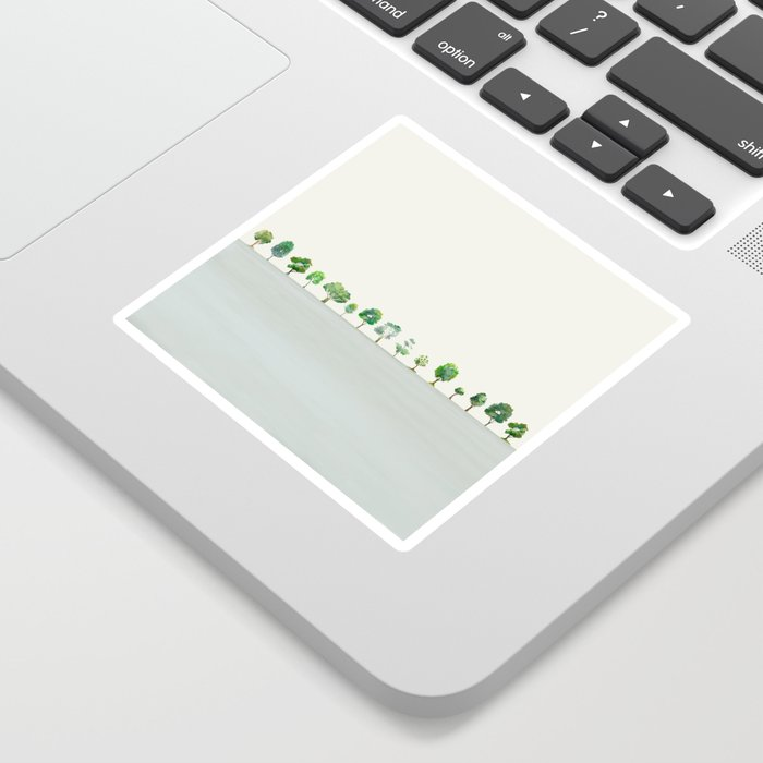 A Row Of Trees Sticker