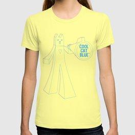 Cool Cat Blue - Cyan Magenta T-shirt