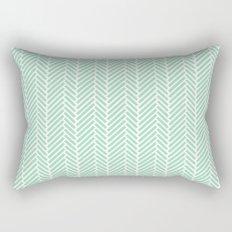 Herringbone Mint Inverse Rectangular Pillow