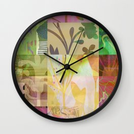Perennials at Dusk Wall Clock
