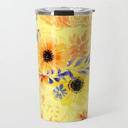 Watercolour Spring Flowers Travel Mug