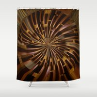labyrinth Shower Curtains featuring Labyrinth by Syella