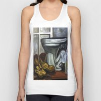 toilet Tank Tops featuring Boots and toilet by spiderdave7