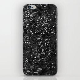 Black & Silver Glitter #1 #decor #art #society6 iPhone Skin