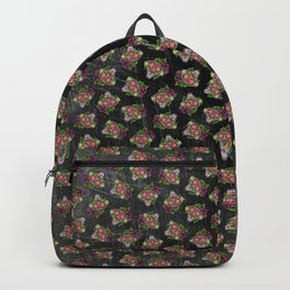 Labrador Retriever - Chocolate Lab - Day of the Dead Sugar Skull Dog Backpack