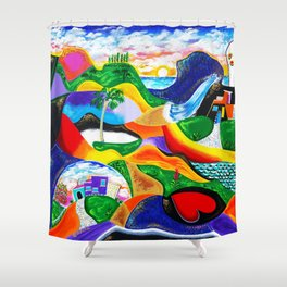 Sunrise in Puerto Rico Shower Curtain