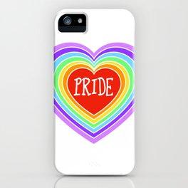 Pride Heart Rainbow iPhone Case