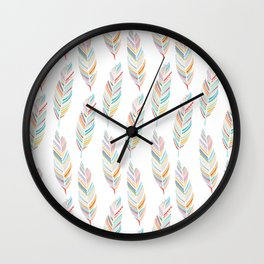 Feathered Wall Clock