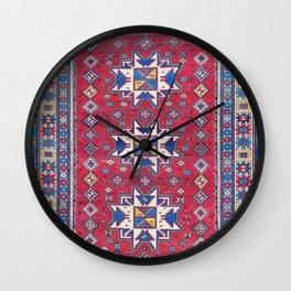 Kuba East Caucasus Rug Wall Clock