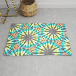 Twelve-Pointed Diagonal Stars Rug