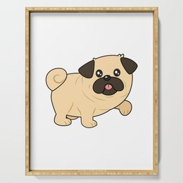 Pug Hair Don't Care Cute Pet Dog Animal Gifts Serving Tray