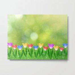 Floral happy spring Metal Print