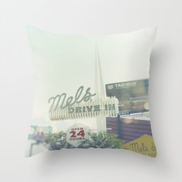 Diner Sunset Blvd Los Angeles California Throw Pillow