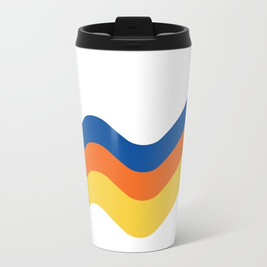 Sound Wave Metal Travel Mug