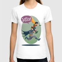 justice T-shirts featuring JUSTICE! by stoopz