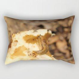 A Slug on a Mushroom Rectangular Pillow