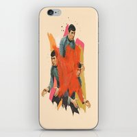 spock iPhone & iPod Skins featuring Spock by Iotara