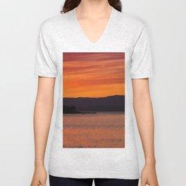Sundown over Oban Bay Unisex V-Neck