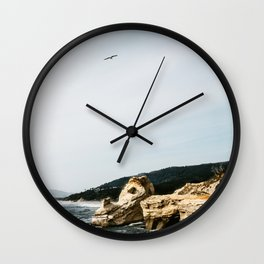 Freedom by the Sea Wall Clock