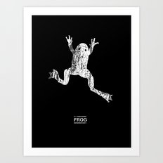 scary frog Art Print