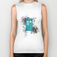 doctor who Biker Tanks featuring Doctor Who by Laain Studios