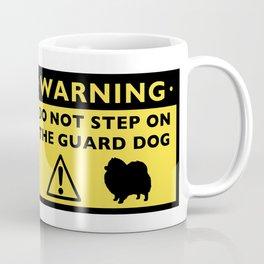 Humorous Pomeranian Guard Dog Warning Coffee Mug