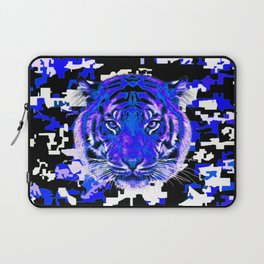 camouflage tiger on blue Laptop Sleeve