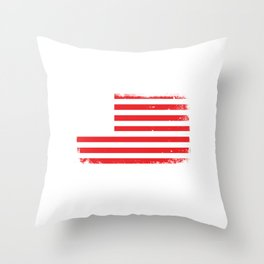"""American Flag Shirt For Americans """"These Colors Don't Run"""" T-shirt Design Stars Red Blue White Throw Pillow"""
