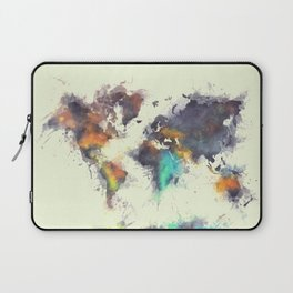 world map 106 #worldmap #map Laptop Sleeve