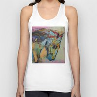 study Tank Tops featuring Horse Study by Michael Creese