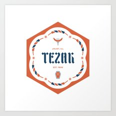 Tezak Family Badge Art Print
