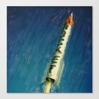 rocket Canvas Prints featuring Rocket by Kevin Garrison