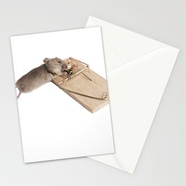 Mouse in a mousetrap Stationery Cards
