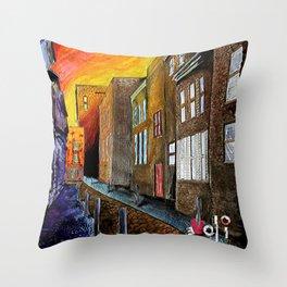 A Cobbled Street Throw Pillow