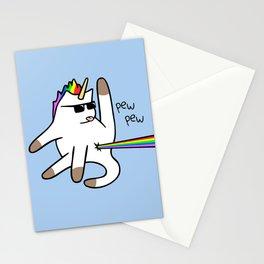 Unicorn Cat Rainbow Butt Laser Stationery Cards