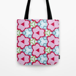 Flower-Kaleidoscope Pink Tote Bag
