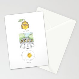 John Lemon the beetles yolko ono Stationery Cards