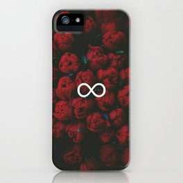 Infinity rose iPhone Case