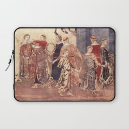 Ambrogio Lorenzetti - The Allegory of Good and Bad Government Laptop Sleeve