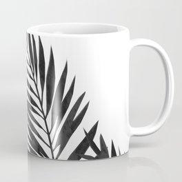 Palm Leaves Black Coffee Mug