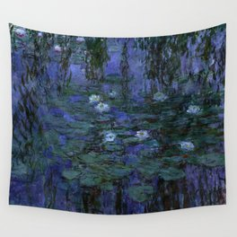 Blue Water Lilies Monet 1916- 1919 Wall Tapestry