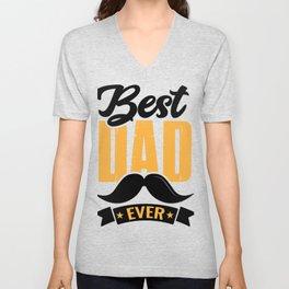 Best Dad Ever Funny Gift for Dad T-Shirt Unisex V-Neck