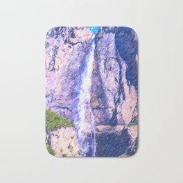 View on Yosemite National Park Waterfall Bath Mat