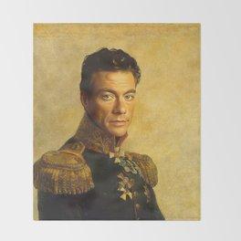 Jean Claude Van Damme - replaceface Throw Blanket
