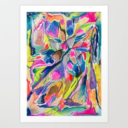 Fluorite Thin Section Watercolor Art Print