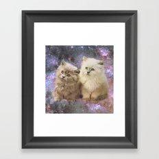 Space Cats Framed Art Print