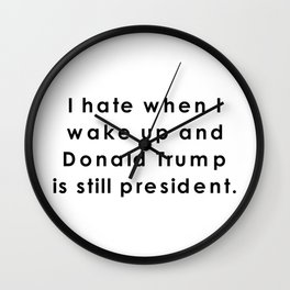 still donald trump Wall Clock